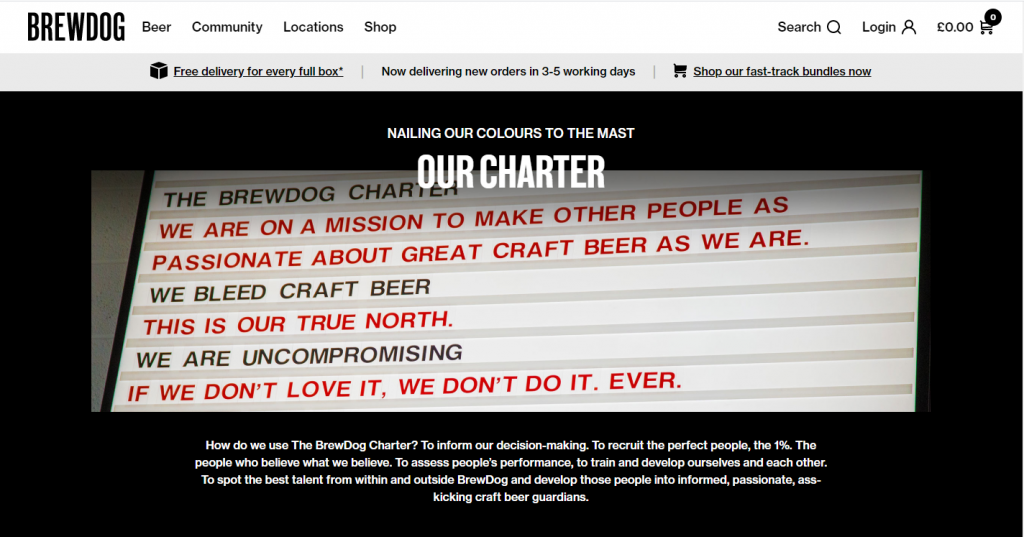 Brew Dog - Our Charter