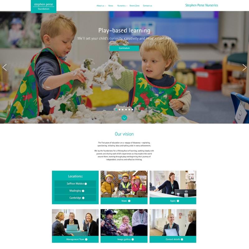 Stephen Perse Nurseries website