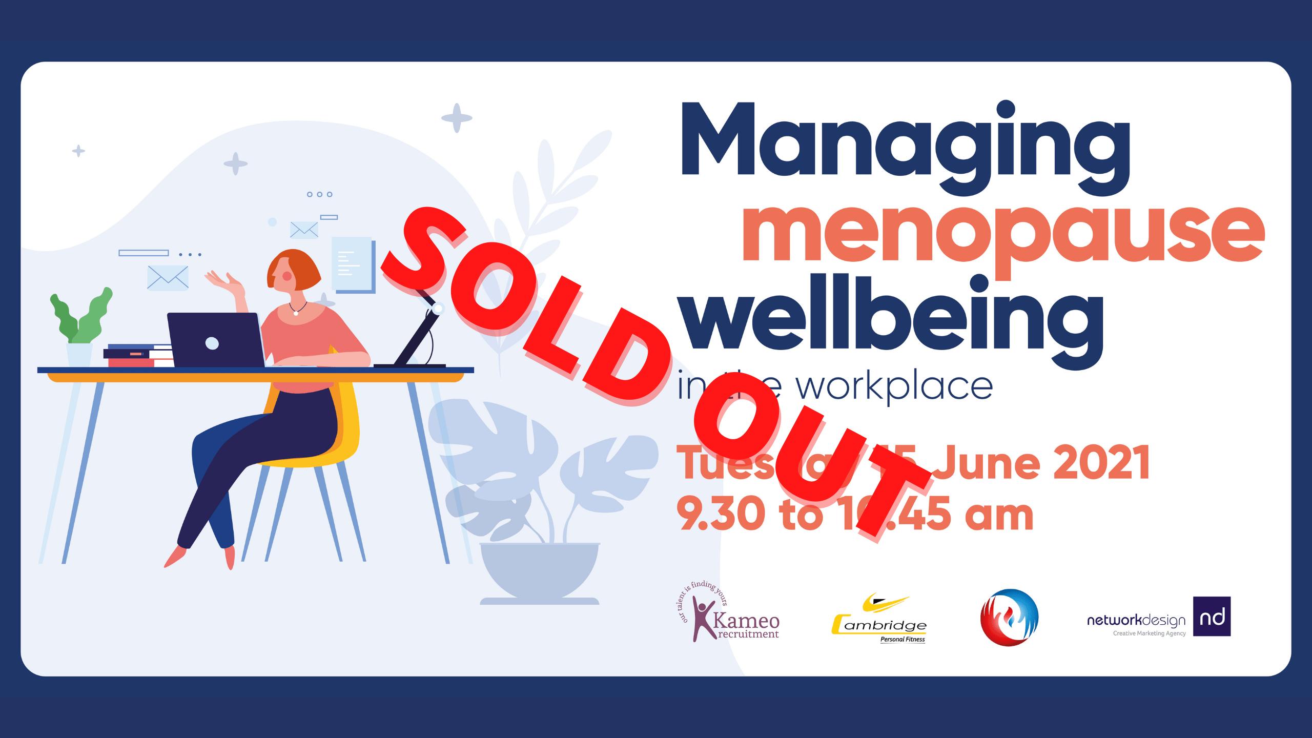 Menopause seminar sold out June 2021